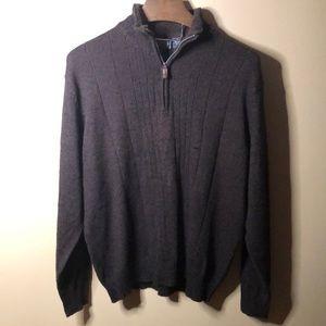 Oscar de la renta 1/2 zip pull over sweater